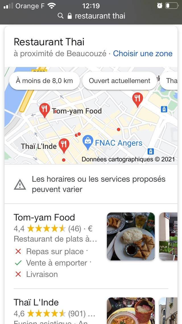 seo local avec google map sur smartphone